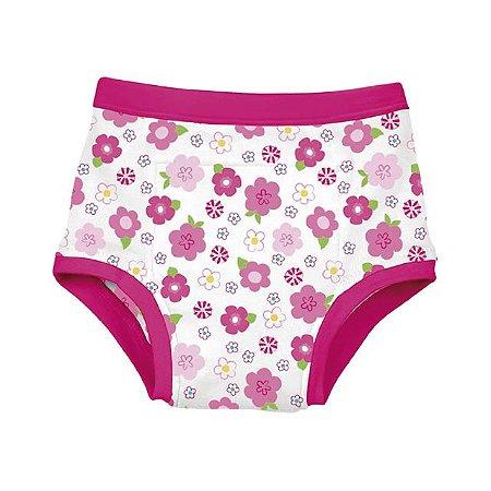 Calcinha de Treinamento para Desfralde Floral Pink Green Sprouts G (3 anos) - Iplay