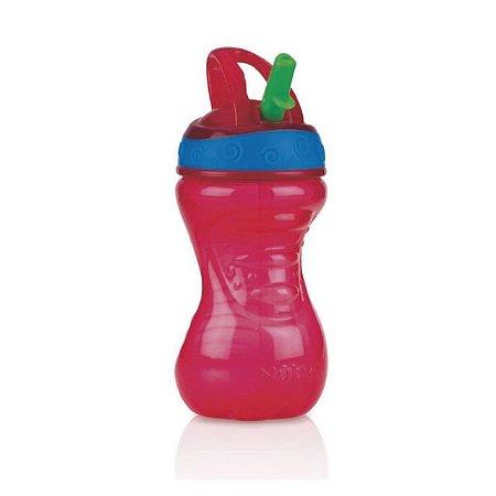 Copo Easy Grip com bico rígido retrátil 300 ml vermelho +12m Nuby