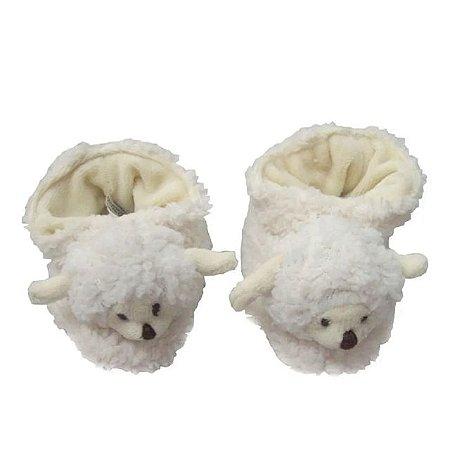 Pantufa Pelúcia Ovelha Carola - Tamanho: G (13 cm X 7,5 cm (C x L)) - Zip Toys
