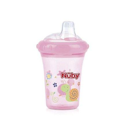 Copo com bico de silicone – Caracol - Rosa – 207 ml - Nuby