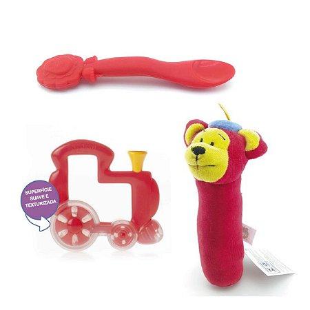 Kit Presente Bebê Vermelho Divertido