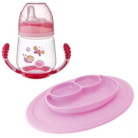 Kit Presente Bebê Carinha Rosada Alimentação