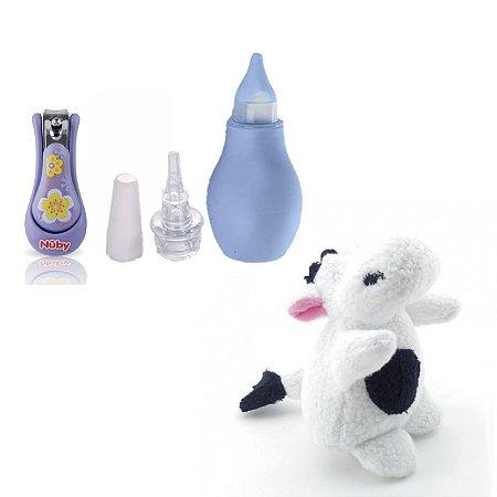Kit Presente Bebê Roxo Cuidados Divertido