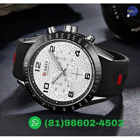 66cd4c9d6cc Relógio Curren Homem de Luxo Esportivo de Silicone Quartzo