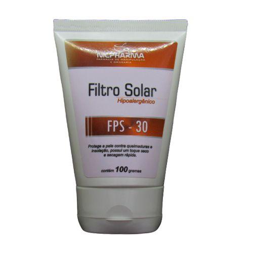 Filtro Solar Hipoalergênico FPS 30 100gr Nicpharma