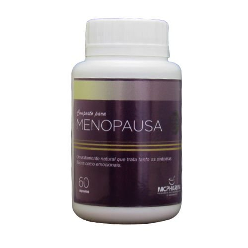 Composto Para Menopausa 60 Cápsulas Nicpharma