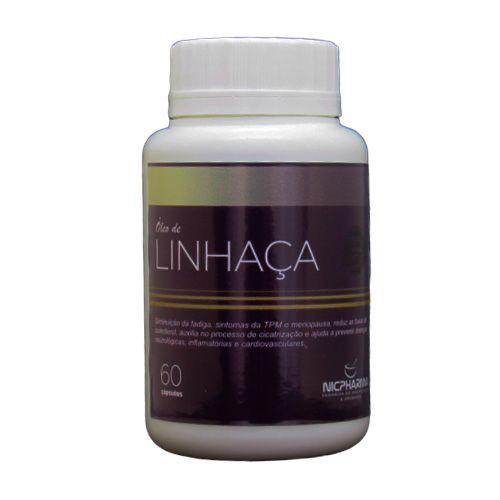 Oleo de Linhaça 1gr 60 cápsulas Nicpharma