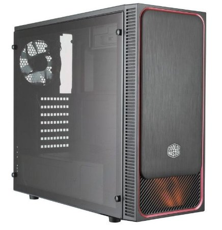Gabinete Cooler Master Masterbox E500L Red Acrílico - MCB-E500L-KA5N-S01