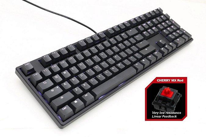 Teclado Mecânico Ducky Channel ONE Full Size Switch Vermelho Iluminação Branco (DKON1608S-RUSPDAAW1)