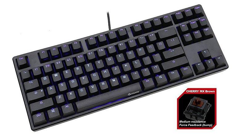 Teclado Mecânico Ducky Channel One TKL Switch Marrom Iluminação Azul (DKON1687S-BUSADAAB1)