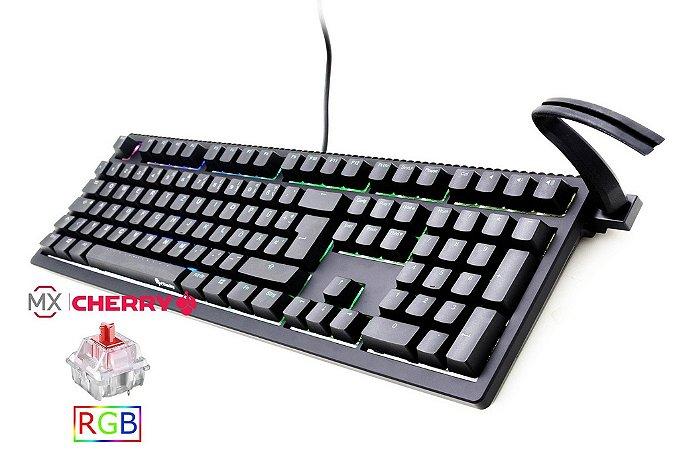 Teclado Mecânico Ducky Channel SHINE 6 Switch Vermelho Iluminação RGB (DKSH1608ST-RUSPDAAT1)