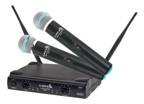 Microfones Sem Fios Lyco Uh-02mm Dinâmico Preto