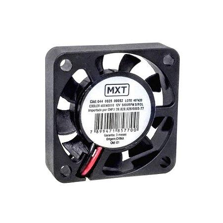 Cooler Mini Ventilador 40x40x10 12v Sem Rolamento Mxt