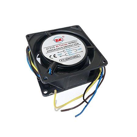 Ventilador Cooler Ventoinha 80x80x25 Hsl Ac 110v 220v