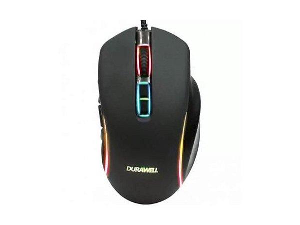Mouse Gamer Com Fio RGB LED 1,8mt 7 Botões Computador USB DPI DW180 - Durawell