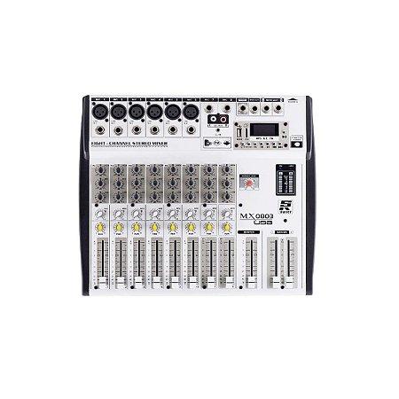 Mesa De Som Usb Mixer Staner Mx 0803