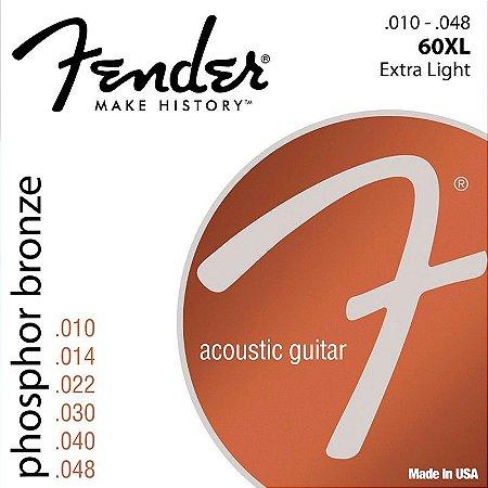 Encordoamento Fender Violão Aço .010 Fosforo Bronze