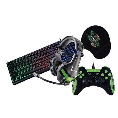 Kit Gamer #2 Teclado+Mouse+Headset+Mousepad+Controle