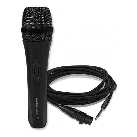 Microfone Pro Bass Pro Mic 500 C/ Cabo De 3 Metros