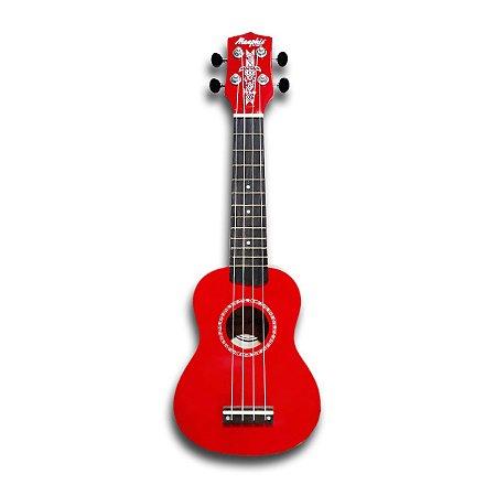 Ukulele Soprano Honu Memphis By Tagima vermelho