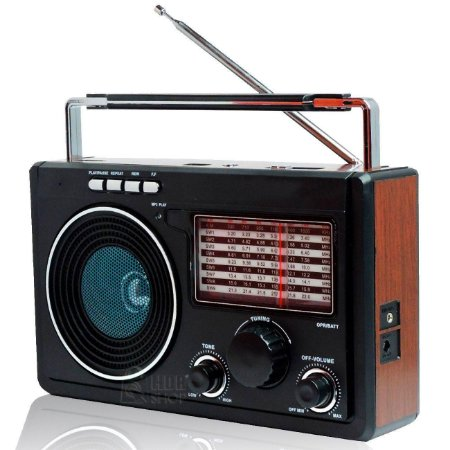Radio Retro Recarregavel Lelong Le 609 Pen Driva Am/fm/sw