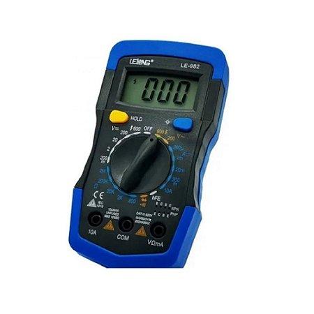 Multímetro Digital Profissional Com Led Visor Le-982 Premium