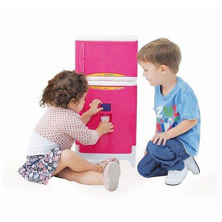 Refrigerador Duplex Casinha Flor Estilo com Som