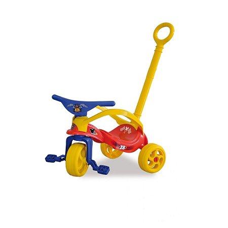 Triciclo com Empurrador e Proteção Mickey
