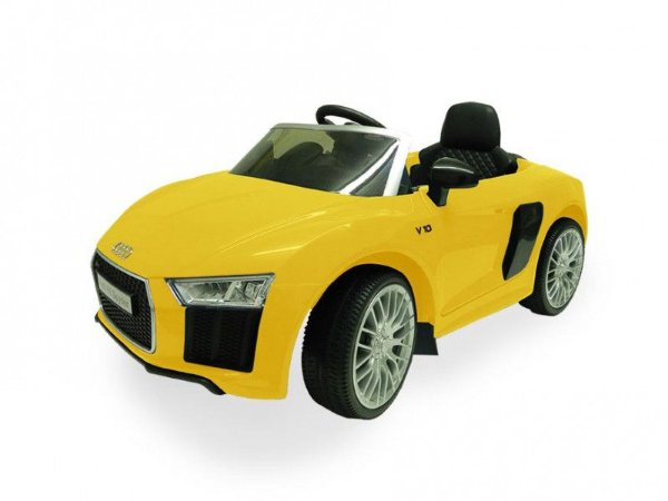 Carrinho Elétrico Infantil 6 Volts Audi R8 Yellow