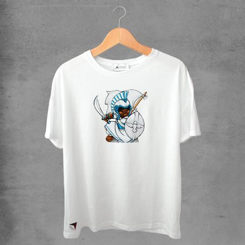 Camiseta masculina e feminina basic branca 100% Algodão Oxoguian