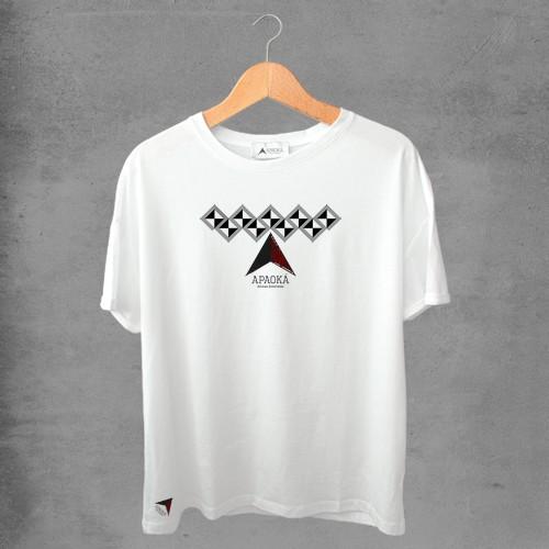Camiseta masculina e feminina basic branca 100% Algodão Coleção Apaoká Nº 24