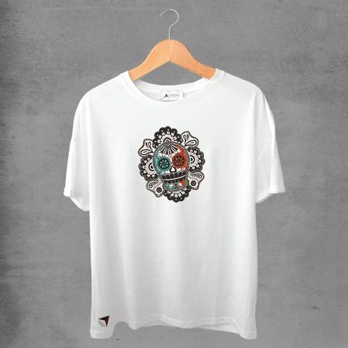 Camiseta masculina e feminina basic branca 100% Algodão Coleção Apaoká Nº 33