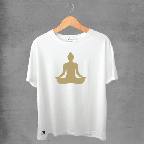 Camiseta masculina e feminina basic branca 100% Algodão Coleção Apaoká Nº 34