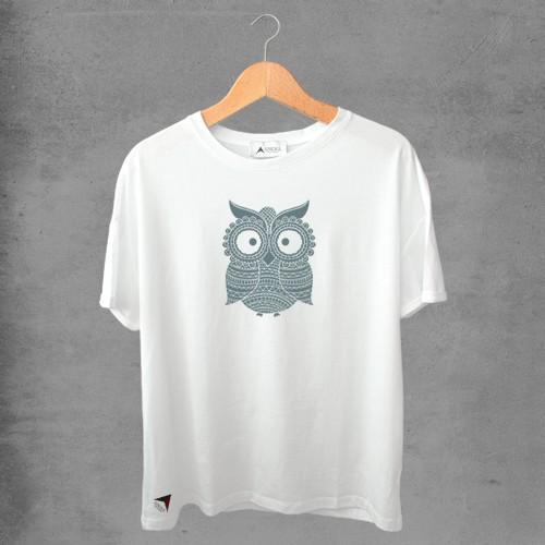 Camiseta masculina e feminina basic branca 100% Algodão Coleção Apaoká Nº 38