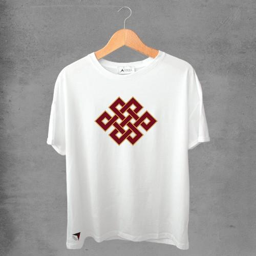 Camiseta masculina e feminina basic branca 100% Algodão Coleção Apaoká Nº 42