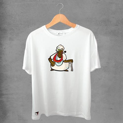 Camiseta masculina e feminina basic branca 100% Algodão Coleção Apaoká Nº 44
