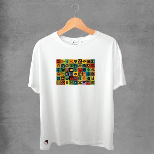 Camiseta masculina e feminina basic branca 100% Algodão Coleção Apaoká Nº 46