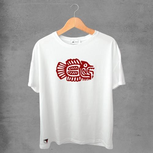 Camiseta masculina e feminina basic branca 100% Algodão Coleção Apaoká Nº 48