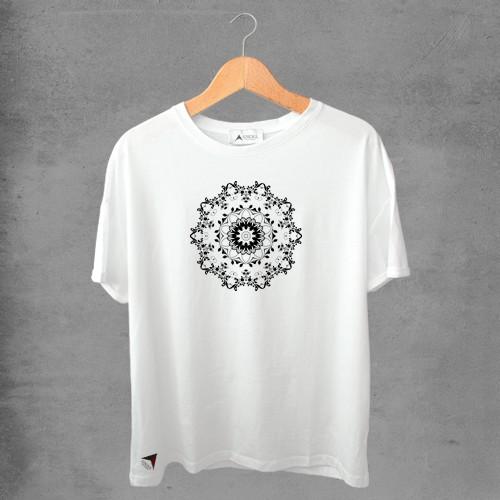 Camiseta masculina e feminina basic branca 100% Algodão Coleção Apaoká Nº 50