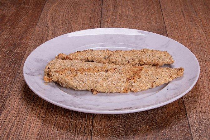 Pescadinha Branca com Crosta de Amaranto e Castanha do Pará 300 gramas