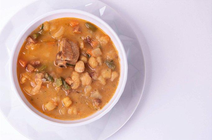 Sopa de Grão de Bico com Carne Suína e Legumes 500 gramas
