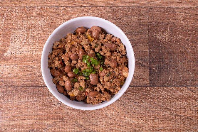 Carne Moída à Mexicana com Feijões e Condimentos 150 gramas