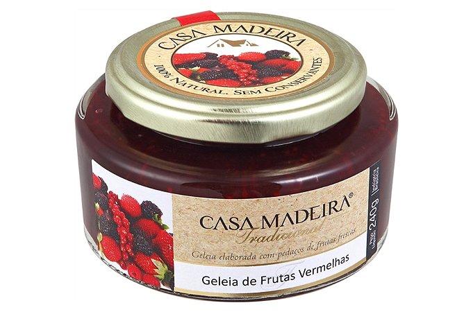 GELEIA DE FRUTAS VERMELHAS 240 GRAMAS CASA MADEIRA