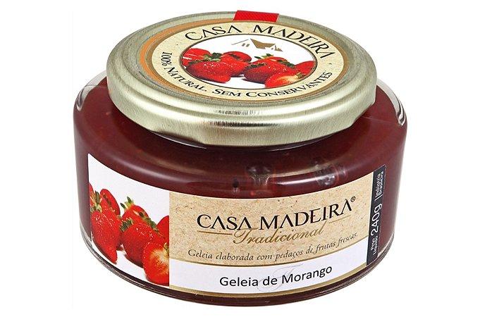GELEIA DE MORANGO 240 GRAMAS CASA MADEIRA