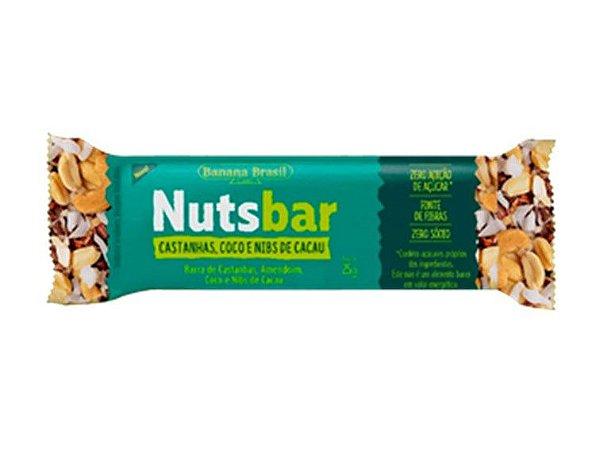 NUTS BAR CASTANHA/COCO/NIBS  25G