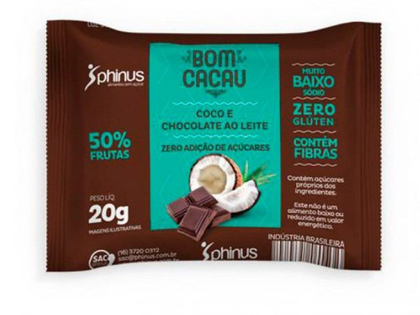 BOMCACAU COCO/CHOC 20 GRAMAS PHINUS