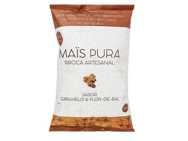 PIPOCA CARAMELO COM FLOR DE SAL 150 GRAMAS MAIS PURA