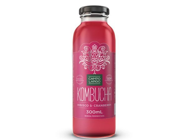 KOMBUCHA HIBISCO E CRANBERRY 300ML CAMPO LARGO
