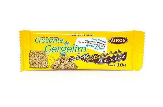 Barra Crocante de Gergelim, Linhaça e Castanha de Caju 10 gramas Airon