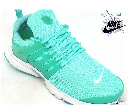 baratísimo venta de tienda outlet 100% autentico Tênis Feminino Nike Air Presto Verde Água E Branco 2019